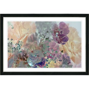 'Pastel Cream Scented Bloom' Framed Oil Painting Print on Paper by Studio Works Modern