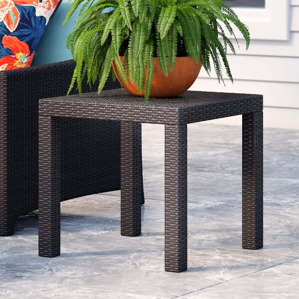 Northridge Rattan Side Table by Three Posts