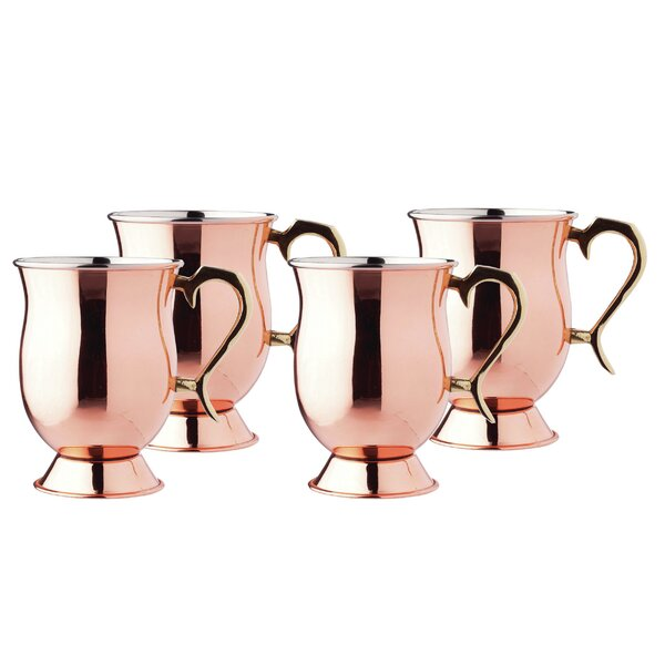 16 oz. Copper Mug (Set of 4) by Old Dutch International