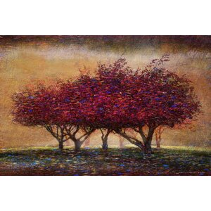 'Crabapple Blossoms' by Chris Vest Painting Print on Wrapped Canvas by Marmont Hill