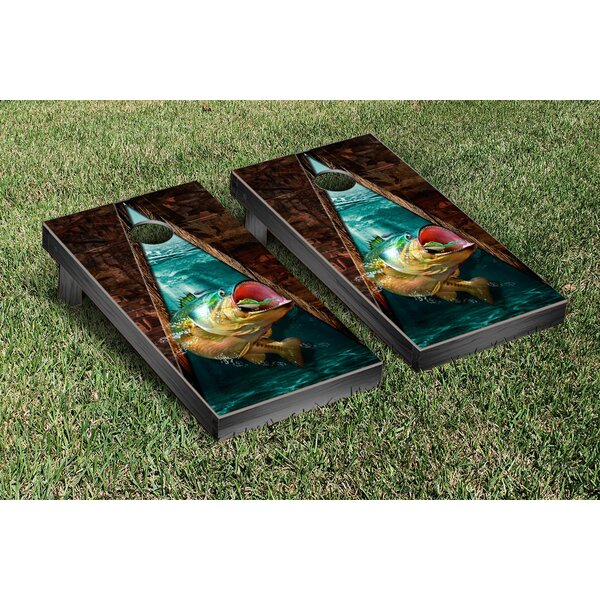Bass Fishing Cornhole Game Set by Victory Tailgate