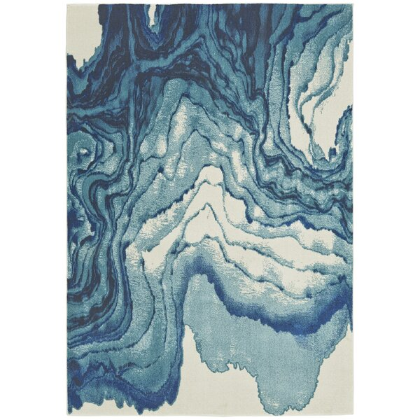 PeoPles Blue Area Rug by Zipcode Design