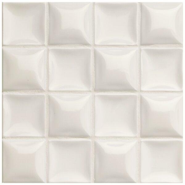 Catarina 7.88 x 7.88 Ceramic Field Tile in Nacar Cream Pearl by EliteTile