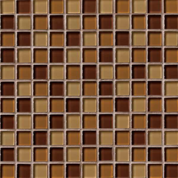 Crystallized 1'' x 1'' Glass Mosaic Tile in Brown by MSI