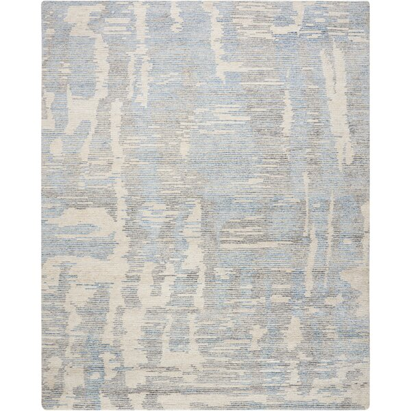 Aroon Hand-Knotted Blue Area Rug by 17 Stories