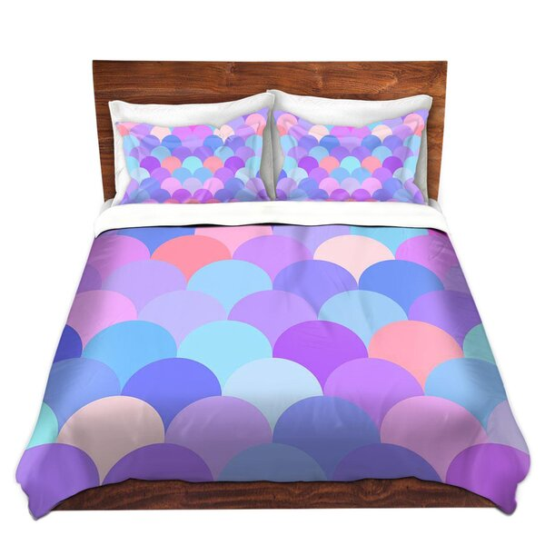 Pastel Scales Pattern Duvet Cover Set