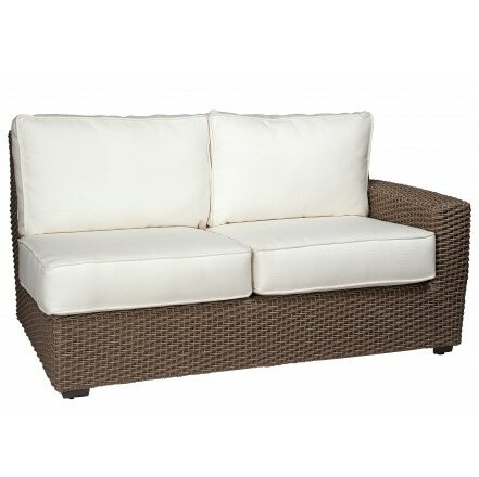 Augusta Right Arm Facing Loveseat Sectional with Cushions by Woodard