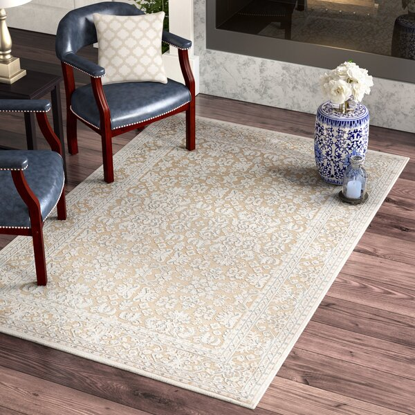 Harting Hand-Tufted Warm Sand Area Rug by Three Posts