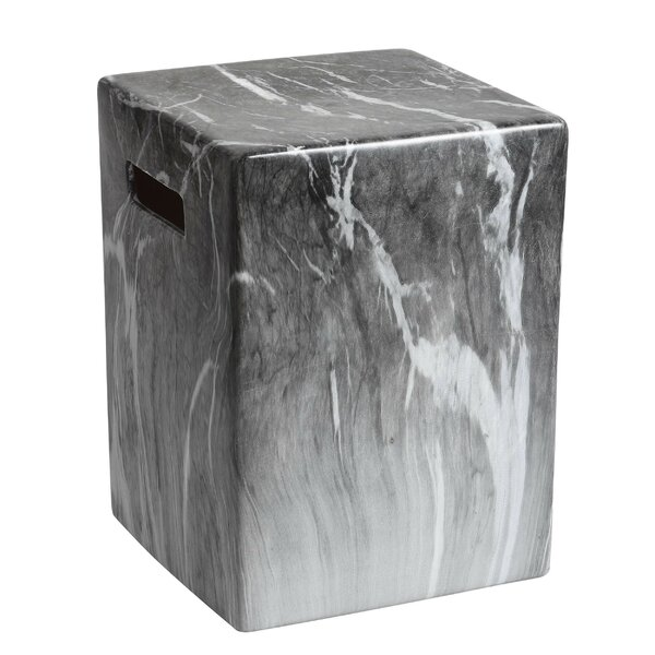 Grubb Marble Garden Stool by Wrought Studio