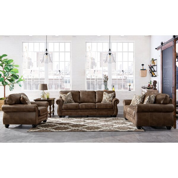 Saltash Leathaire Configurable Living Room Set by Darby Home Co Darby Home Co