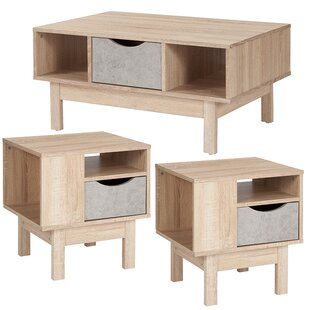 Forest 3 Piece Coffee Table Set Ebern Designs