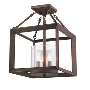 Kendall 3-Light Semi-Flush Mount  sc 1 st  Joss u0026 Main & Rustic Lighting | Joss u0026 Main azcodes.com