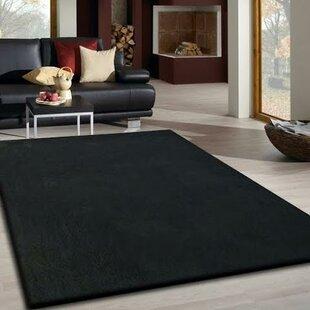 Read Reviews Vinci Hand-Tufted Black Area Rug ByLatitude Run