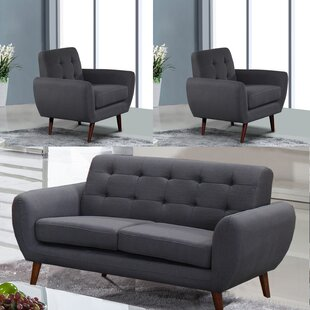Yearwood 3 Piece Standard Living Room Set by George Oliver
