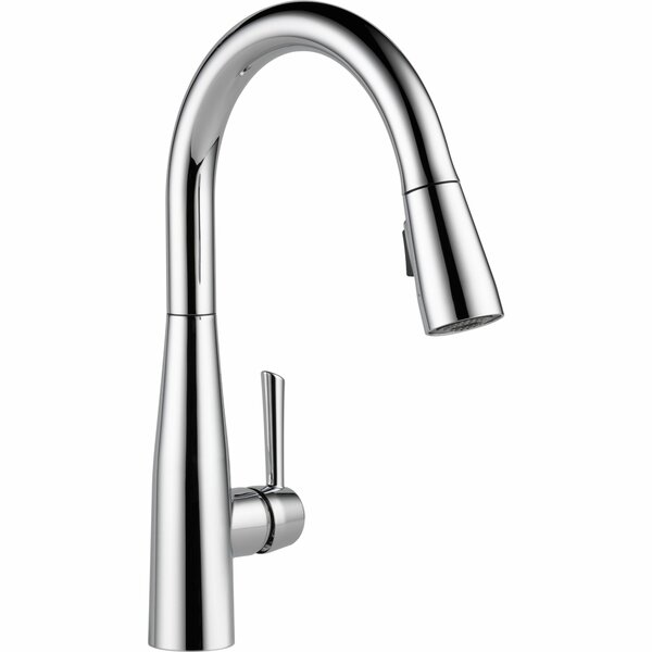 Essa Pull-Down Single Handle Kitchen Faucet with MagnaTite Docking and Diamond Seal Technology by Delta