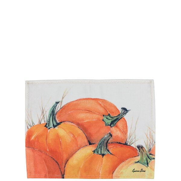 Maurice Pumpkin 15.75 Placemat (Set of 2) by The Holiday Aisle
