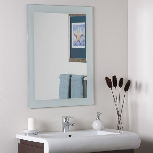 Grendon Frameless Wall Mirror by Rosecliff Heights