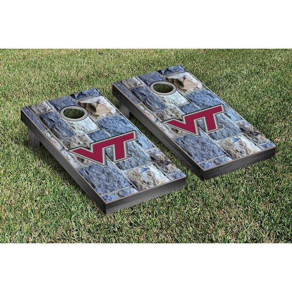 NCAA Virginia Tech Hokies Stone Version Cornhole Game Set by Victory Tailgate