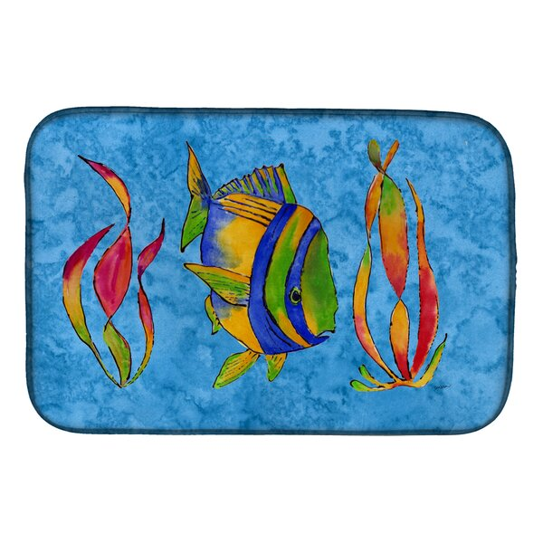Troical Fish and Seaweed on Dish Drying Mat by Caroline's Treasures