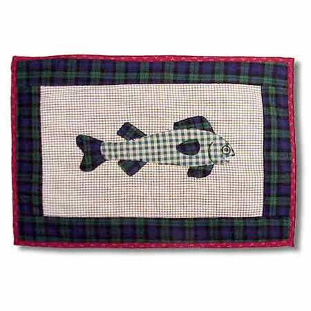 Cabin Fish Placemat (Set of 4) by Patch Magic