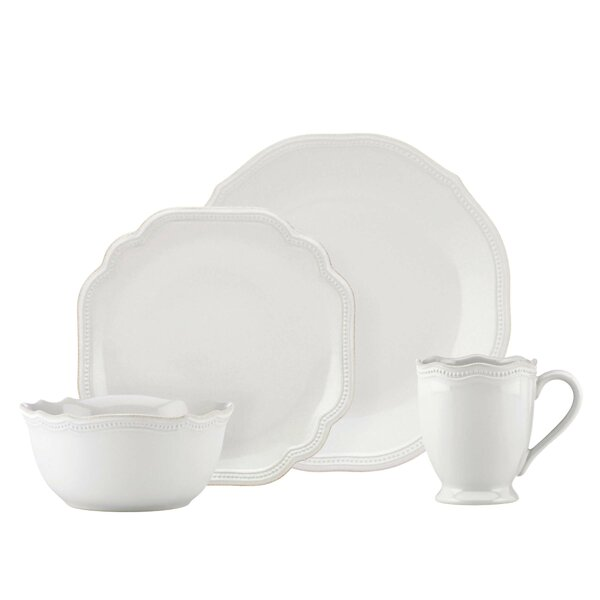 French Perle Bead 4 Piece Place Setting, Service for 1 by Lenox