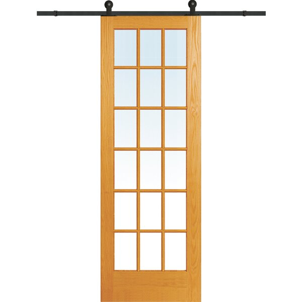 Wood 1-Panel Natural Interior Barn Door by Verona Home Design
