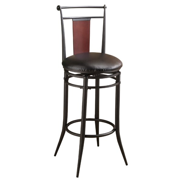Midtown 24.5 Swivel Bar Stool with Cushion by Hillsdale Furniture