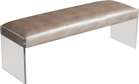 Nori Leather Bench by Interlude