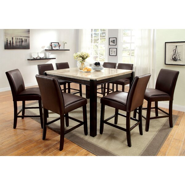 Dornan 9 Piece Solid Wood Table Set by Hokku Designs Hokku Designs