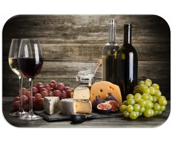 Wine and Grapes Print Slip-Resistant Foam 19 Placemat (Set of 8) by Dainty Home