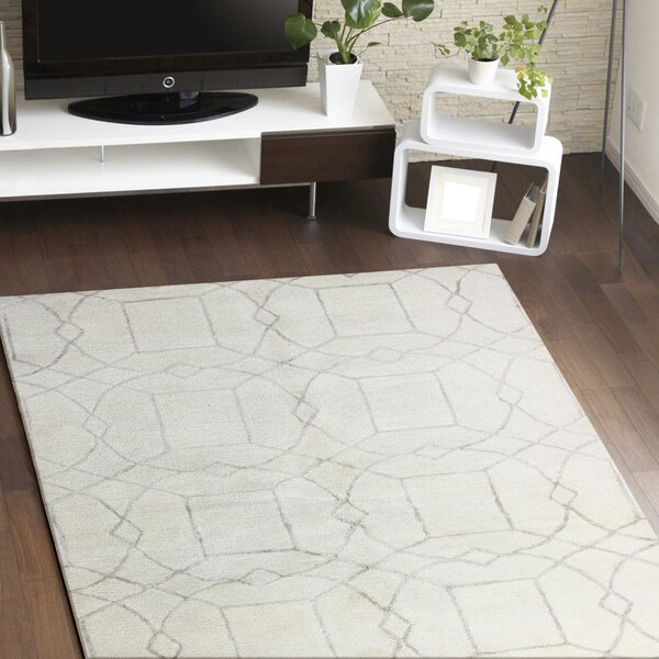 Cochin Hand-Tufted Ivory Area Rug by Meridian Rugmakers