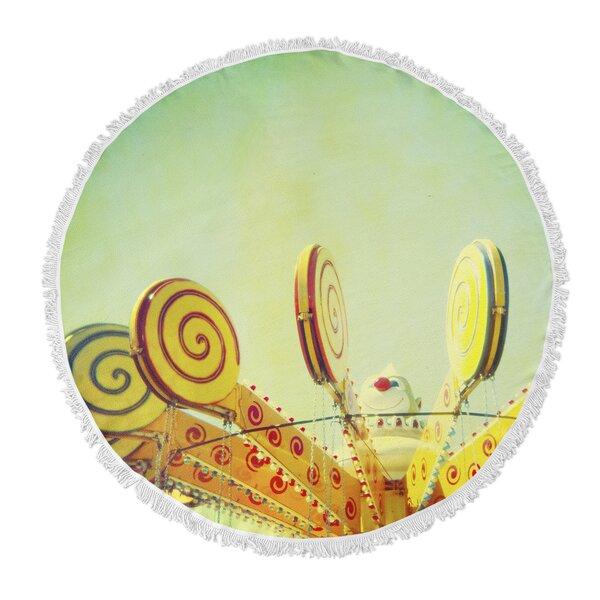 Lollypop Love Round Beach Towel by KAVKA DESIGNS