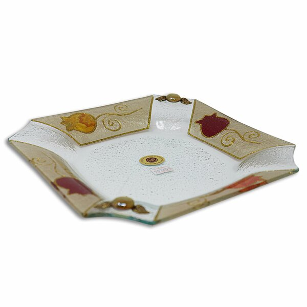 Pomegranate Square Platter by East Urban Home