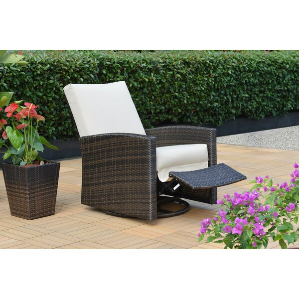Anderton Swivel Recliner Patio Chair with Sunbrella Cushions by Breakwater Bay
