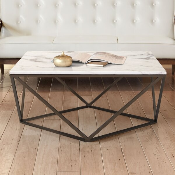 Davies Marble Coffee Table by Brayden Studio