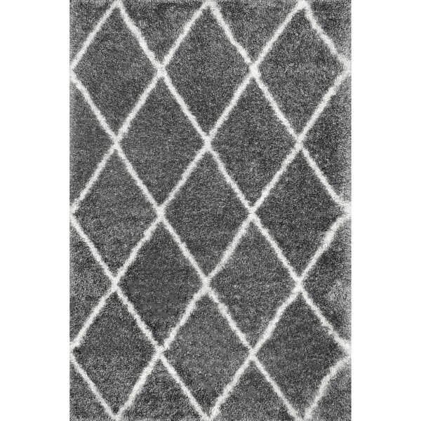 Bronson Trellis Ash Area Rug by Mercury Row