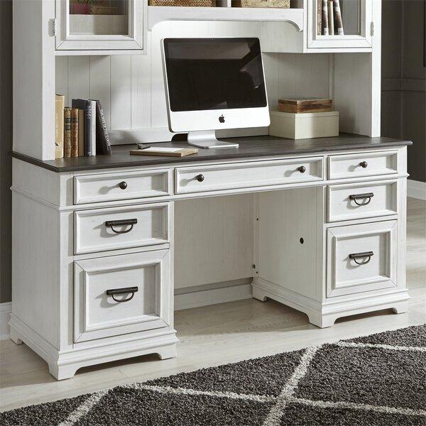 Charland Credenza Desk with Hutch