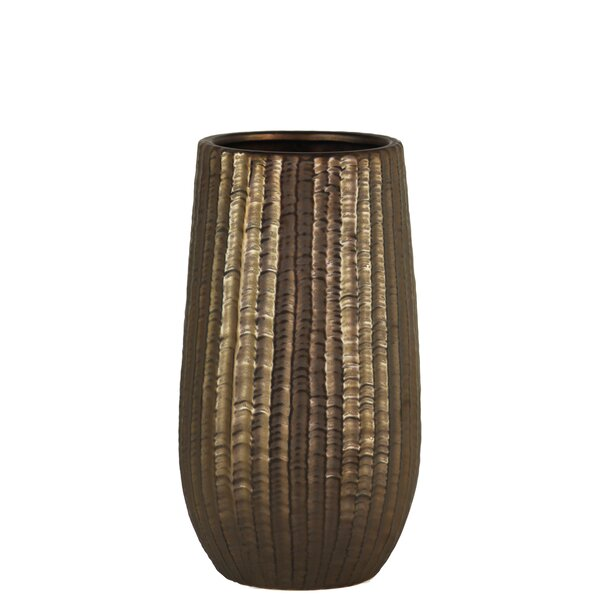 Kimana Cylindrical Stoneware Table Vase by World Menagerie