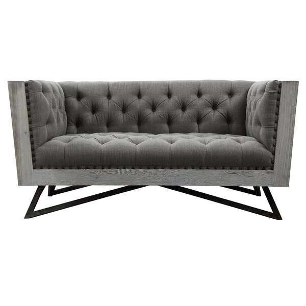 Klahn Contemporary Loveseat by Everly Quinn