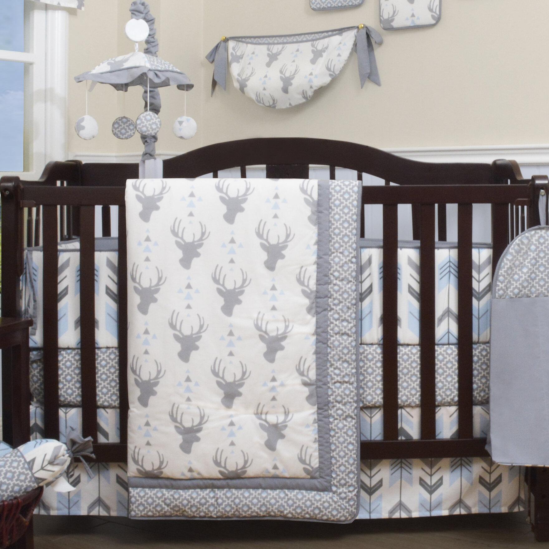 13 Pc Pink Gray Chevron Crib Bedding Set Baby Girl Nursery Quilt Bumper Diaper