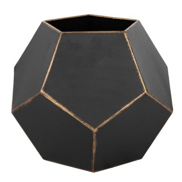 Hargrove Hexagonal Shaped Metal Pot Planter by Wrought Studio