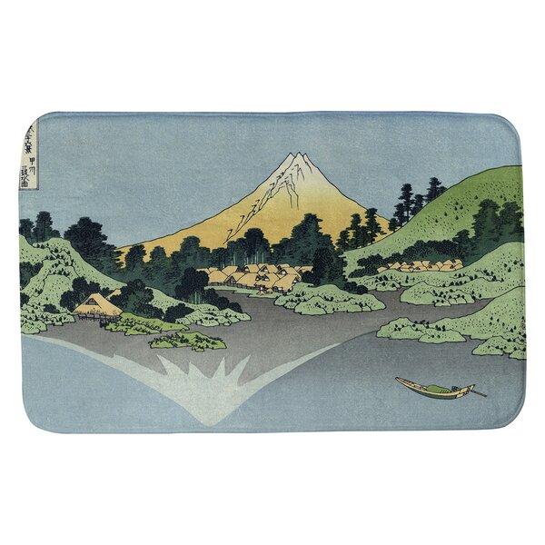 Clair Mt. Fuji Reflected in Lake Kawaguchi Rectangle Non-Slip Bath Rug