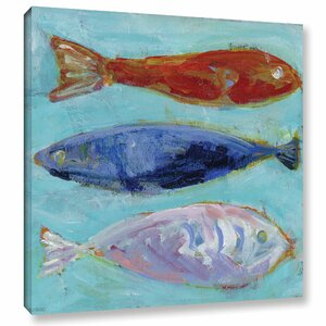 'Nautical Fish' Painting Print on Wrapped Canvas by Breakwater Bay