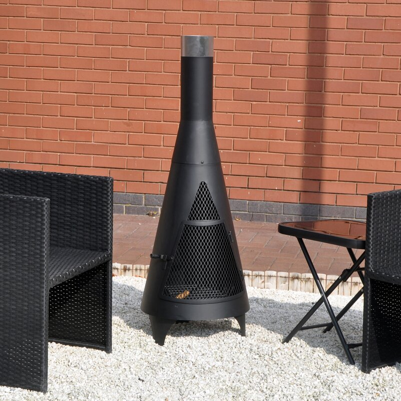 Charming Stainless Steel Chiminea