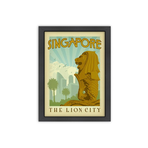 Singapore Framed Vintage Advertisement by East Urban Home