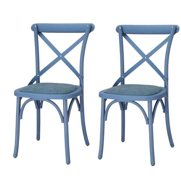 Marisha Cross Back Side Chair (Set Of 2) By Breakwater Bay