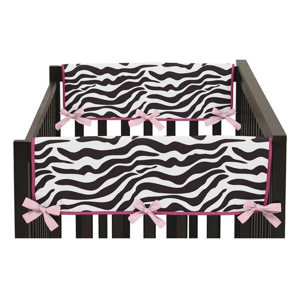 Funky Zebra Side Crib Rail Guard Cover (Set of 2) by Sweet Jojo Designs
