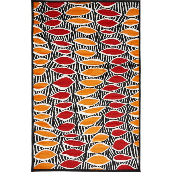 Sidney Black Area Rug by Wrought Studio
