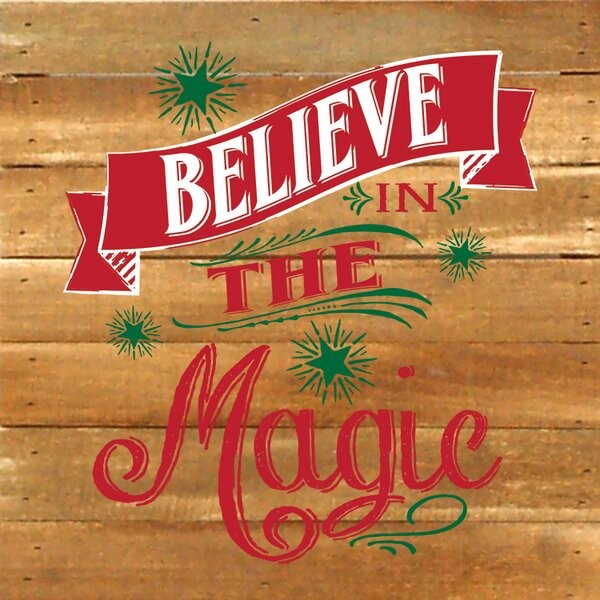 Believe in The Magic Textual Art Plaque by Artistic Reflections