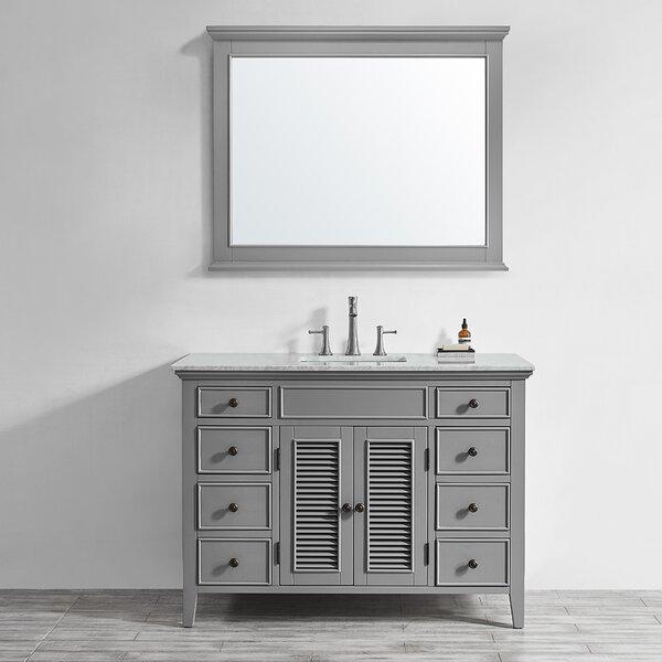 Grovetown 49 Single Bathroom Vanity Set with Mirror by Laurel Foundry Modern Farmhouse